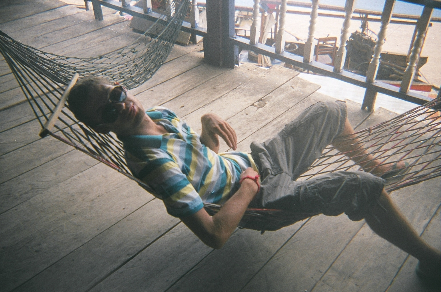 Sebastiaan in a hammock in the 4,000 islands of Laos - Lost With Purpose