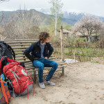 Waiting with backpacks to go from Yeghegnadzor to Goris by marshrutka