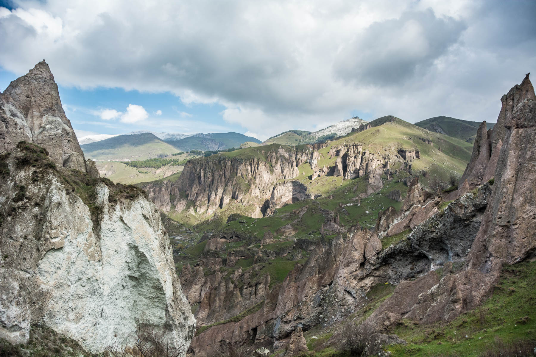 How to get to Tatev from Goris, Armenia - Rocky spires on the edge of the city of Goris, Armenia