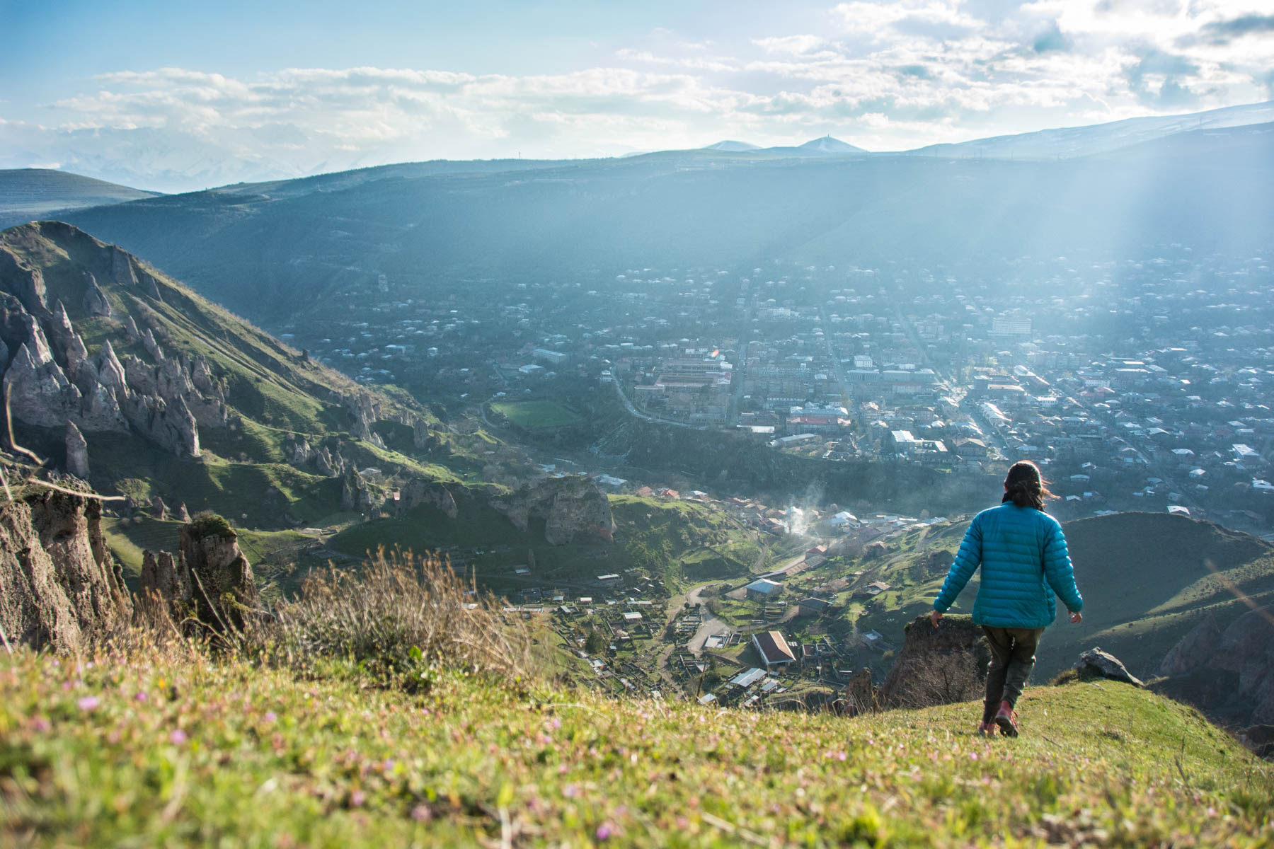 How to get to Tatev from Goris, Armenia - Running around on the mountains of Goris, Armenia