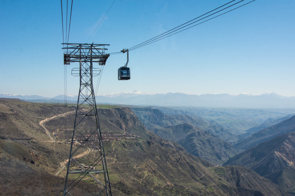 How to get to Tatev from Goris, Armenia - The Wings of Tatev, the longest cable car in the world, near Goris, Armenia