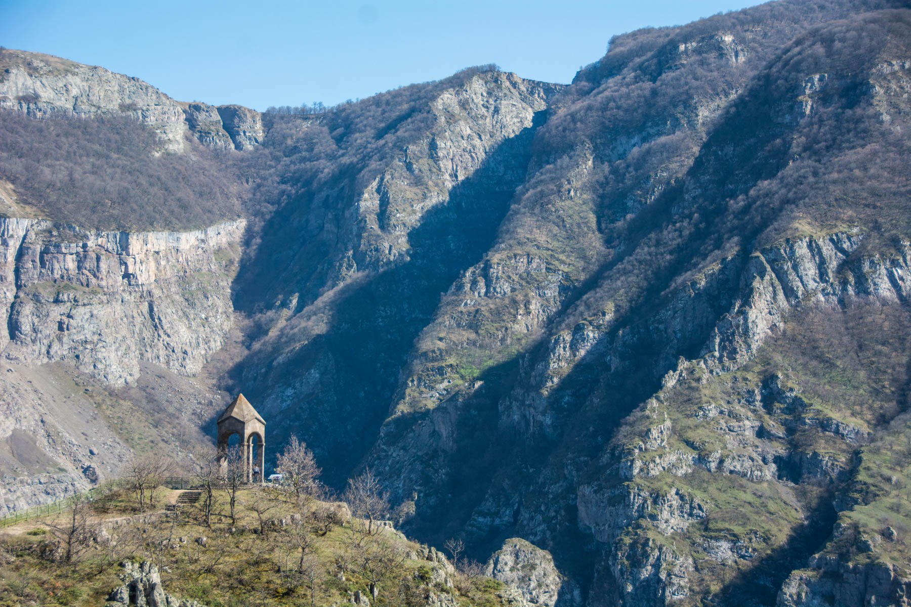 How to get to Tatev from Goris, Armenia - Harsnadzor Watchtower near Tatev monastery in Armenia.