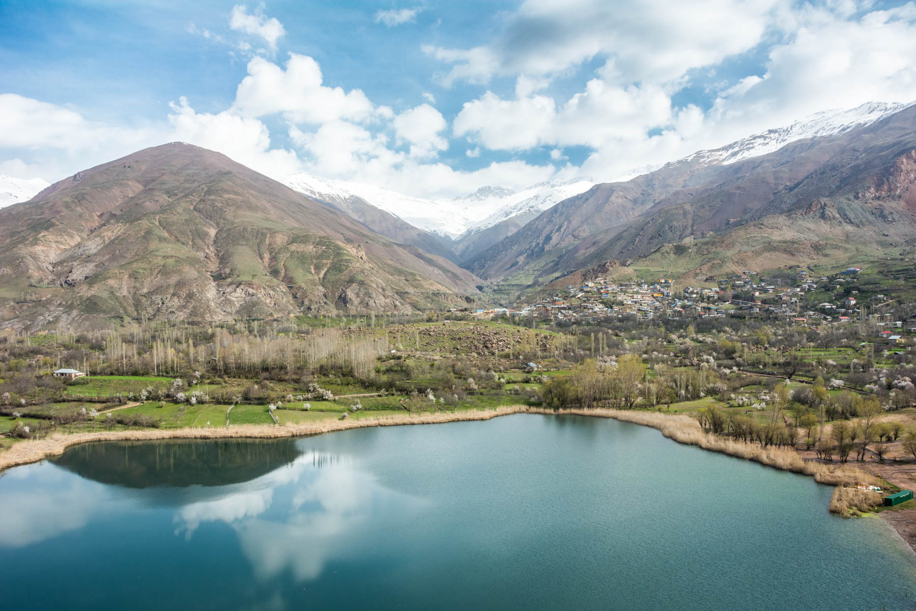 A view of Evan Lake in the Alamut Valley in Iran