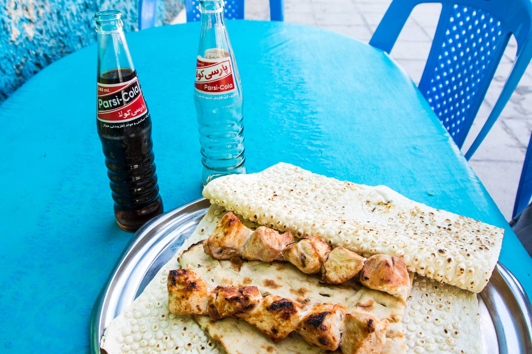 Local Cola and kebab