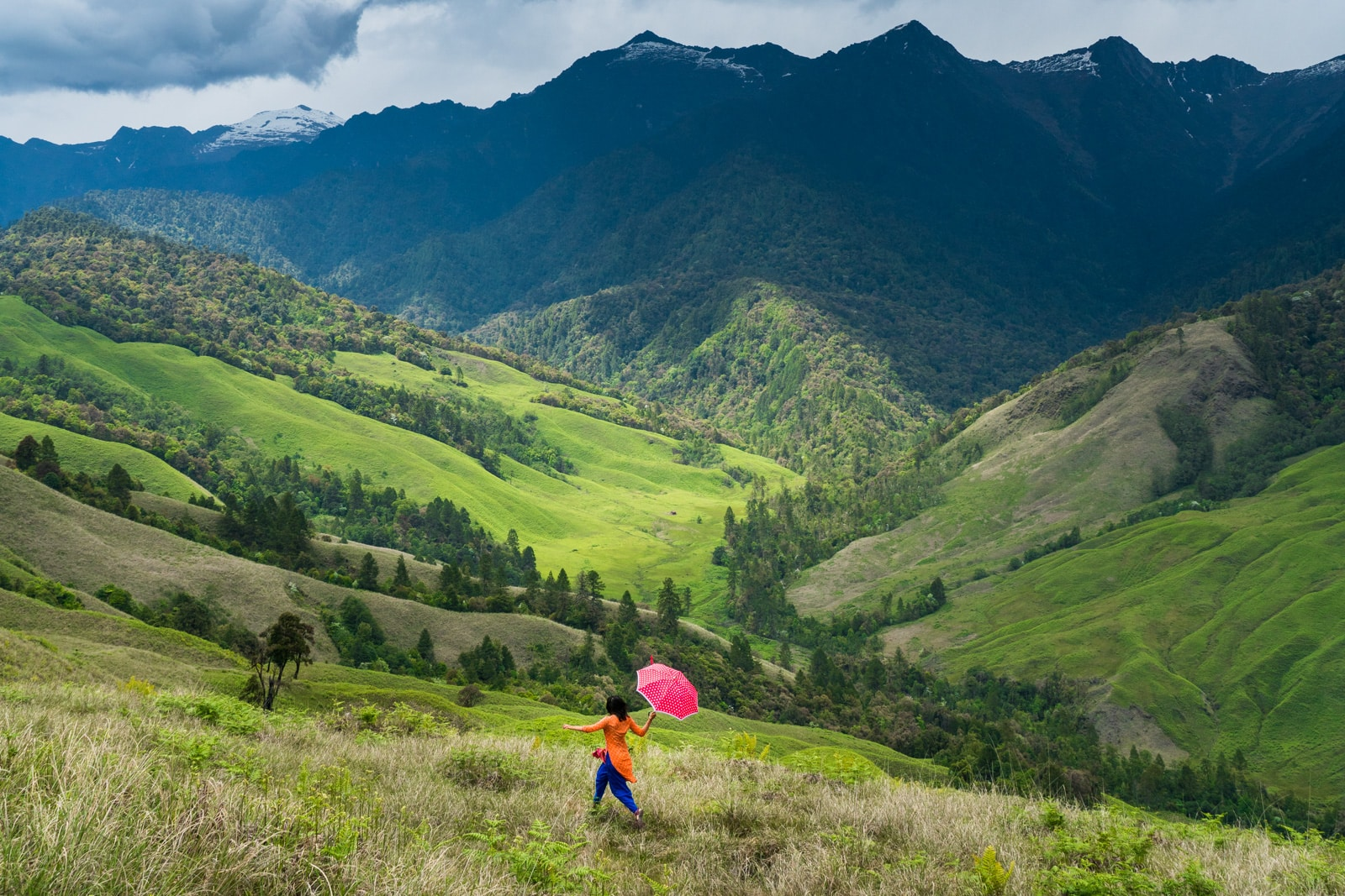 What is Lost With Purpose - Alex running through the mountains of Mechuka in Arunachal Pradesh, India