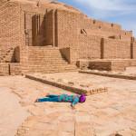Dying from heat at Choqqa Zanbil in Iran.