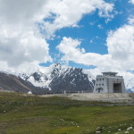 The Pakistan - China border crossing at Khunjerab Pass