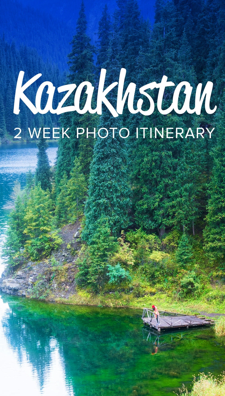 Kazakhstan is a stunning country that's still far from the tourist radar. But that's changing! Many passport holders can travel to Kazakhstan for one month, visa-free. Here's a two week travel itinerary for Kazakhstan to help you plan your next adventure!