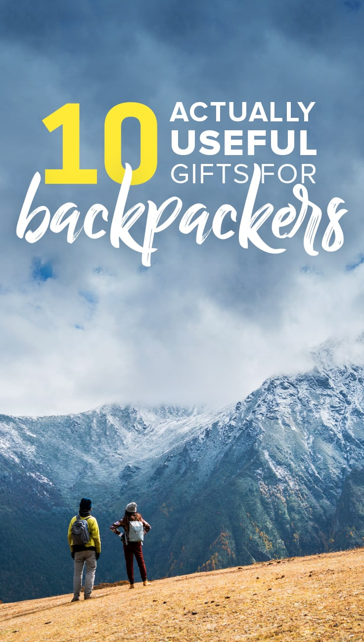 Looking for a gift for a backpacker this holiday season? Don't waste your money on something useless and/or heavy! Here are 10 ACTUALLY useful gifts for backpackers and travelers of all ages and kinds, based on years of being constantly on the road.