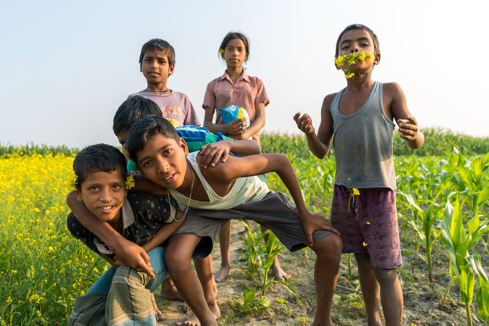 Boys in Assam, India