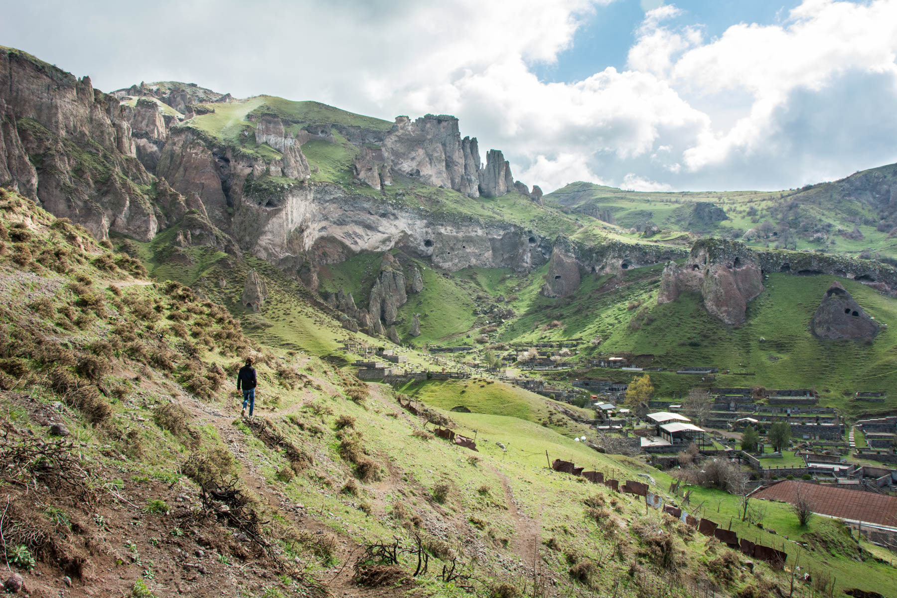Sebastiaan exploring the rocky surroundings of Goris, Armenia - Lost With Purpose