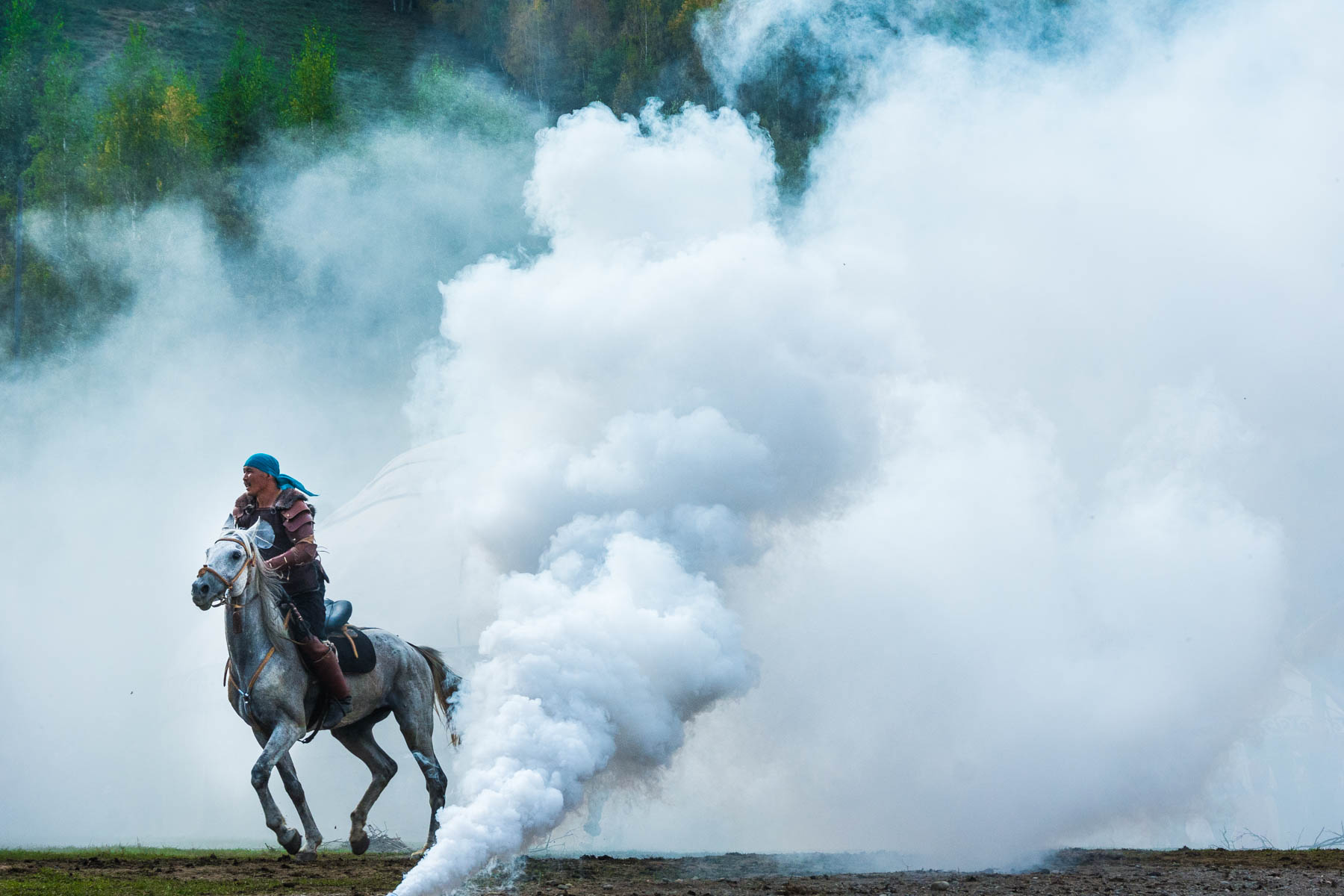 Smoke effects at the World Nomad Games