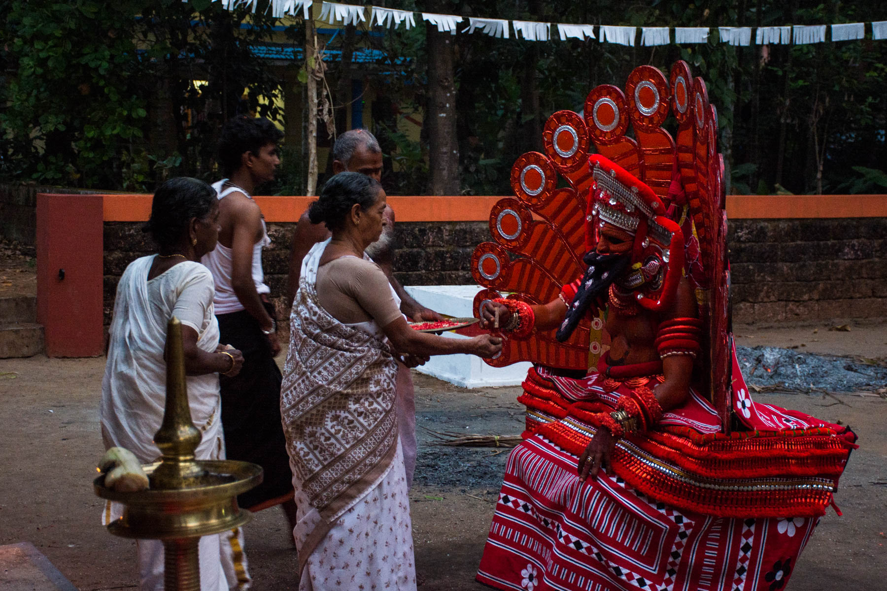 People coming to receive blessings - Where to see THeyyam in Kerala, India - Lost With Purpose