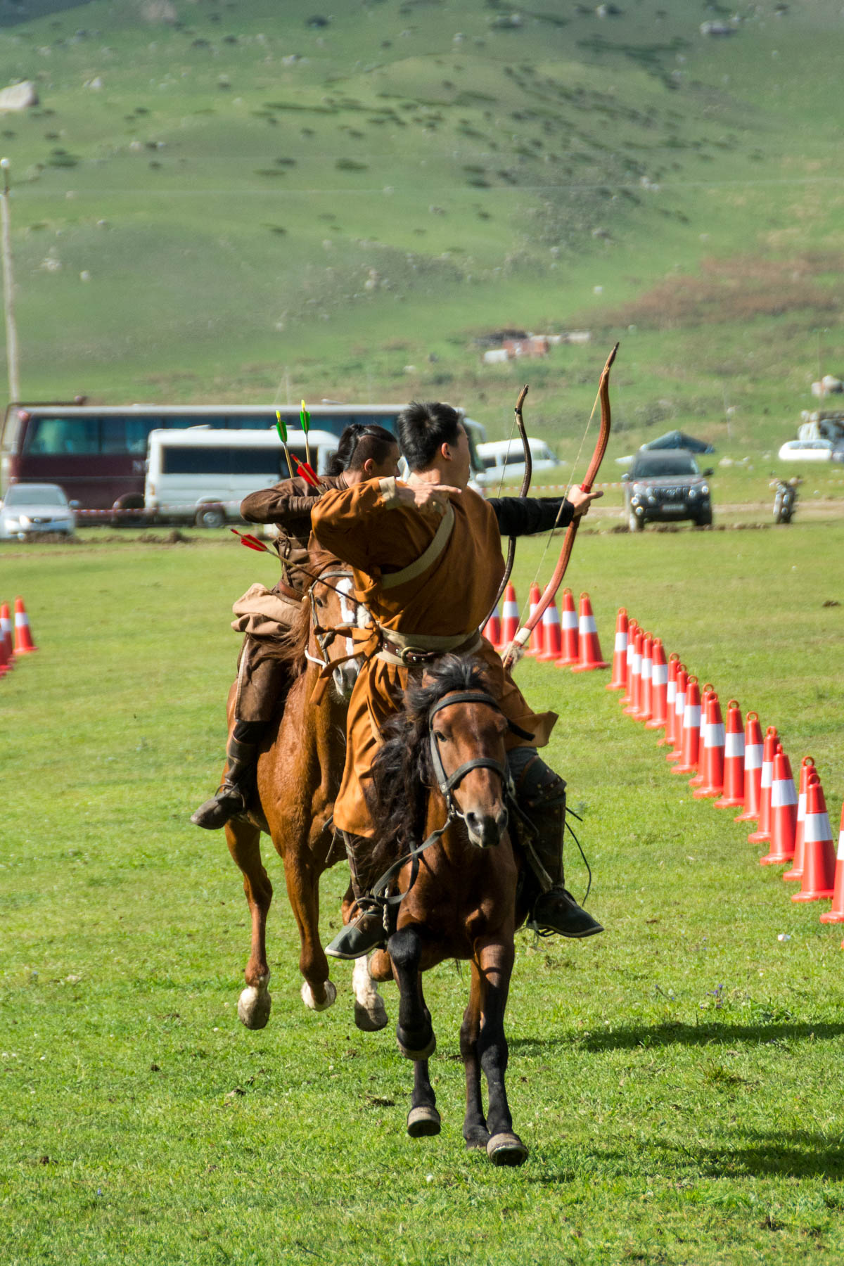 Horseback archery at the World Nomad Games in Kyrgyzstan
