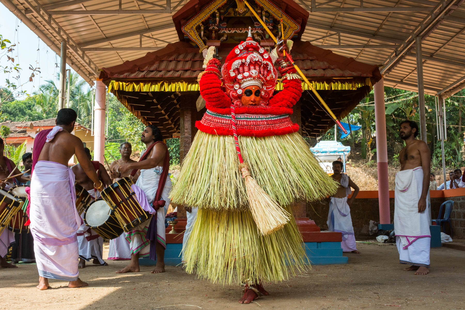 A Theyyam ritual during the day