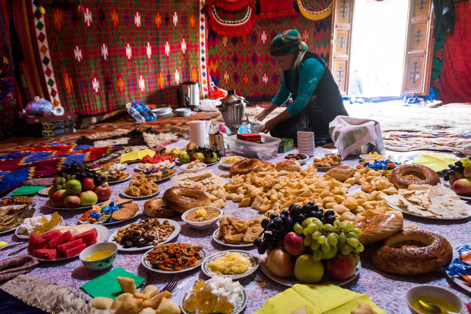 Free nomadic food at the 2016 World Nomad Games