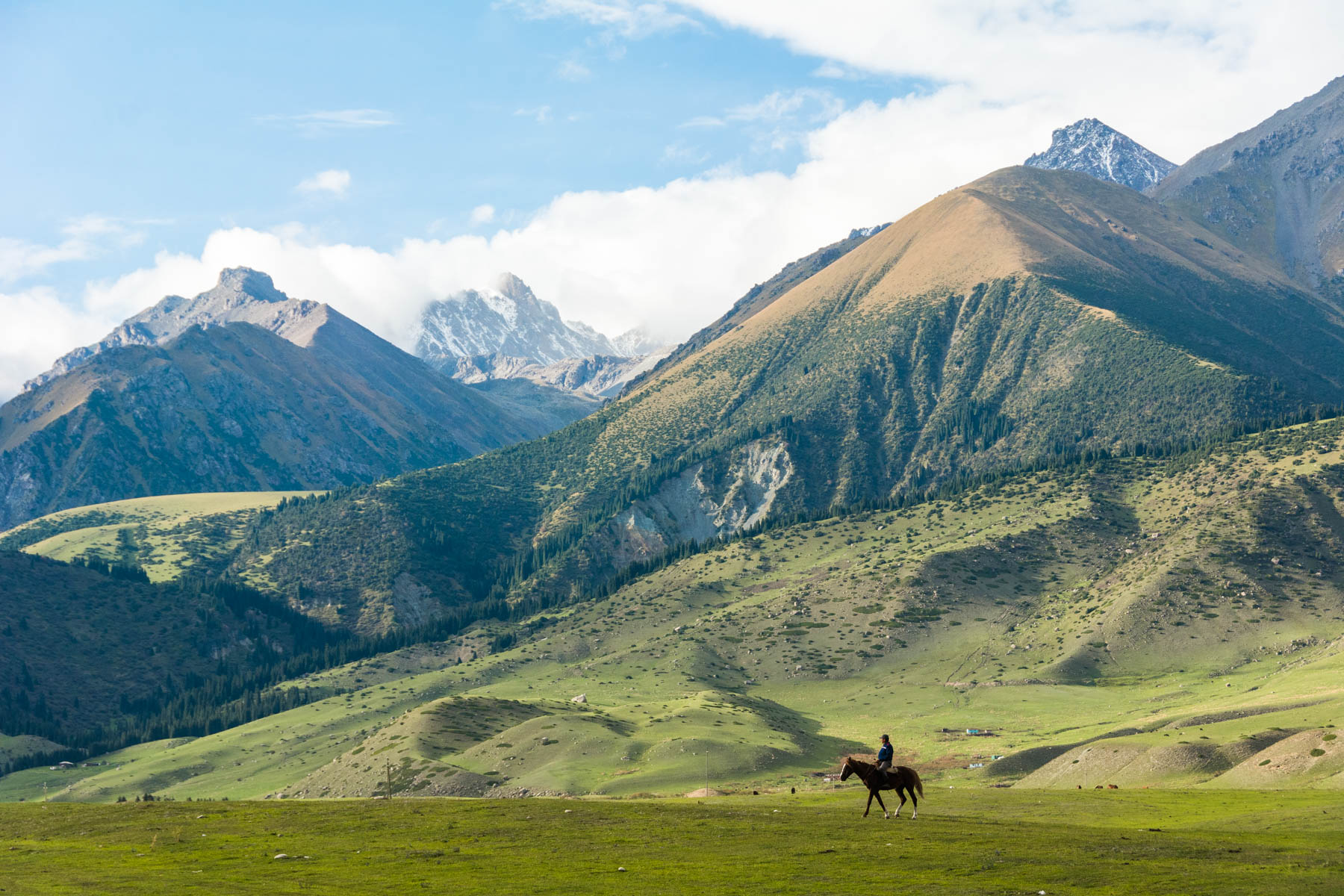 Mountains in Kirchin Gorge, the backdrop of the World Nomad Games in Kyrgyzstan