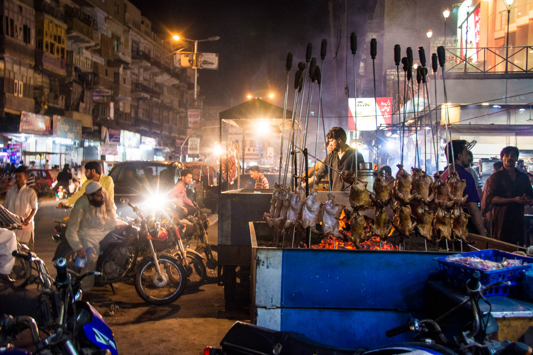 Street food at night on Burns Road in Karachi, Pakistan - Lost With Purpose