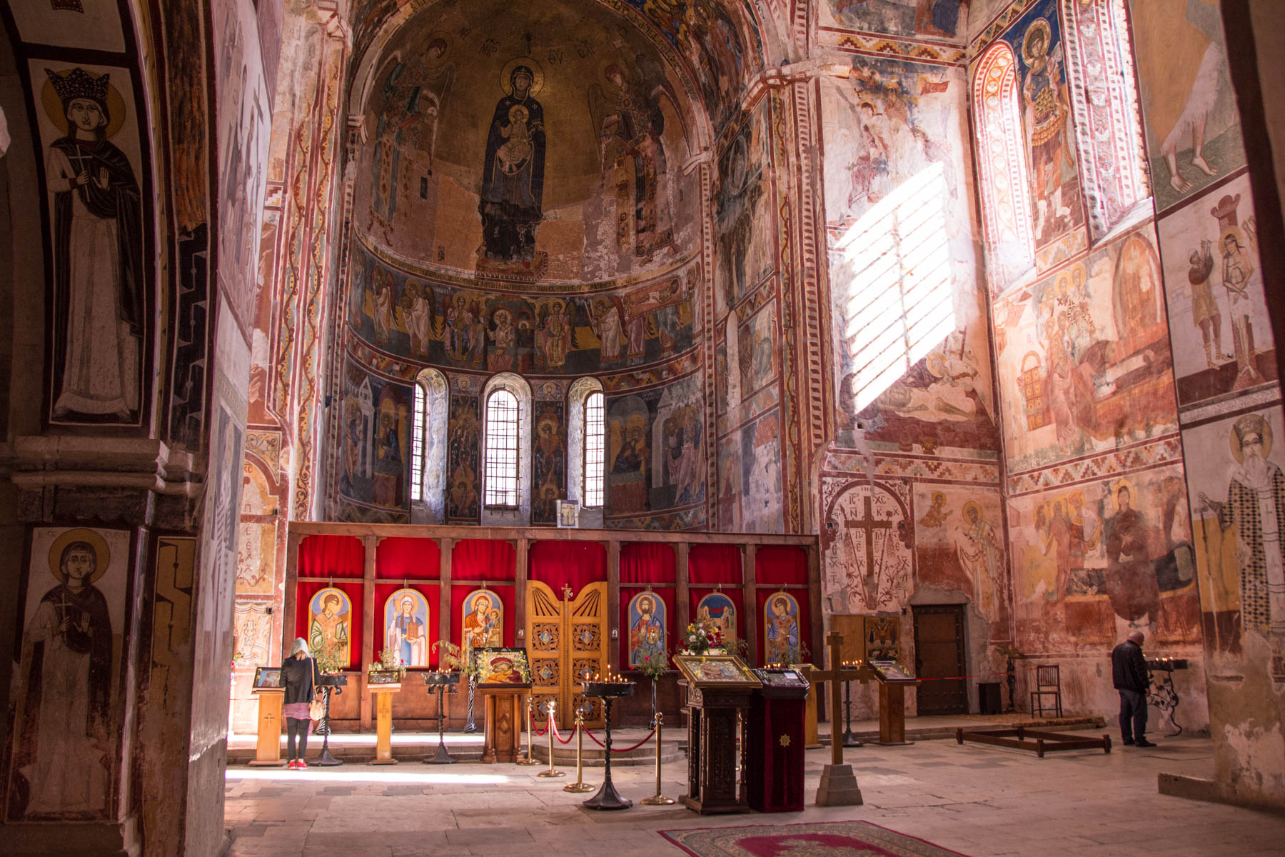 The interior of the stunning Gelati monastery in Kutaisi, Georgia - Lost With Purpose