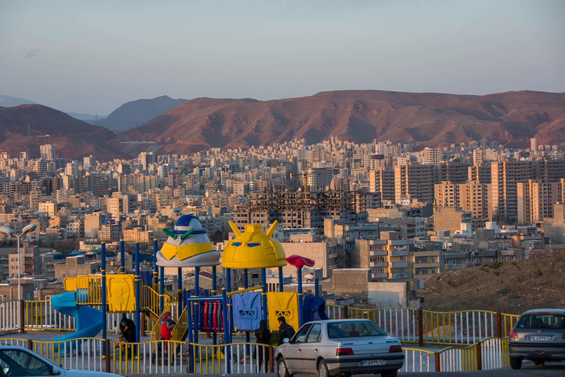 Two week Iran travel itinerary - Sunset view of Tabriz, Iran skyline - Lost With Purpose