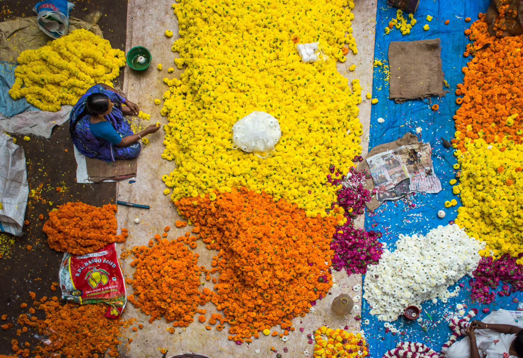 Why dual pricing is unfair - A flower stringer in Bangalore, India - Lost With Purpose