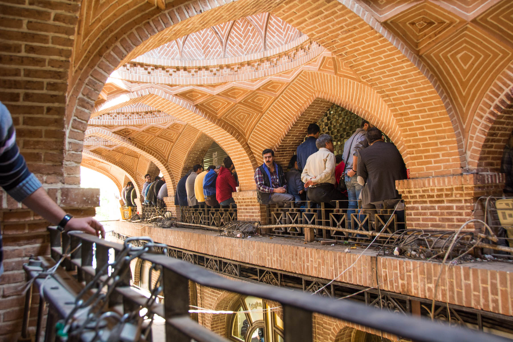 Two week Iran travel itinerary - Stock traders in the Tehran Bazaar in Iran - Lost With Purpose