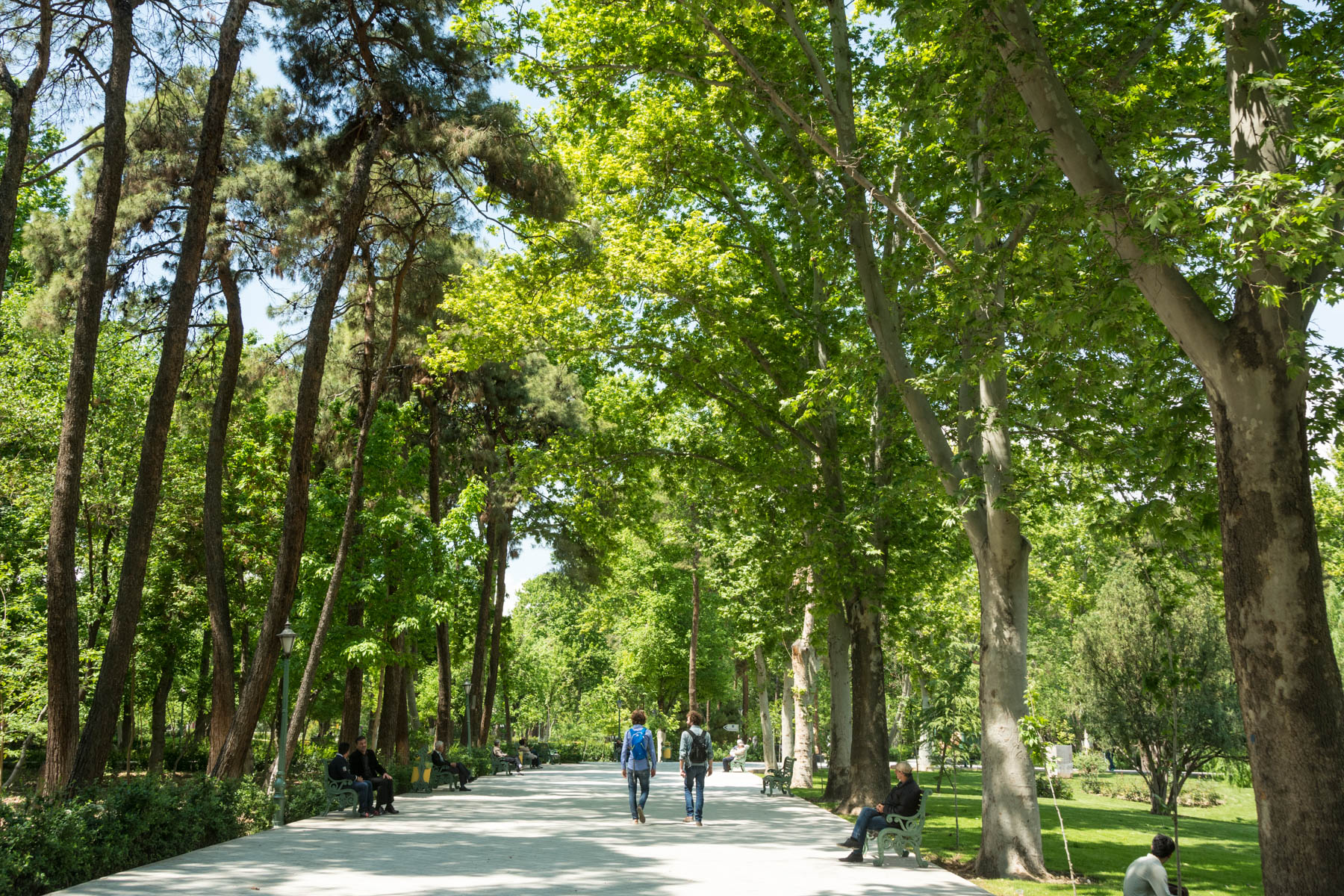 Two week Iran travel itinerary - Park-e Shahr in central Tehran, Iran - Lost With Purpose