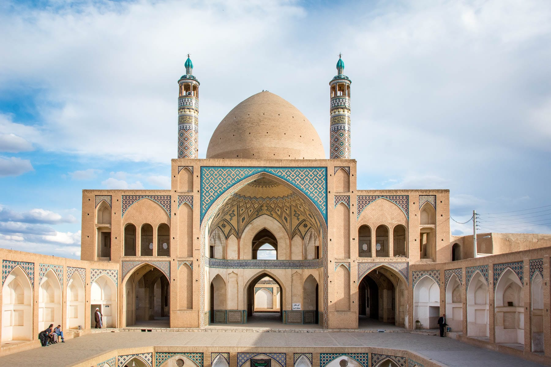 A two week Iran travel itinerary - The Agha Bozorg mosque in Kashan, Iran - Lost With Purpose