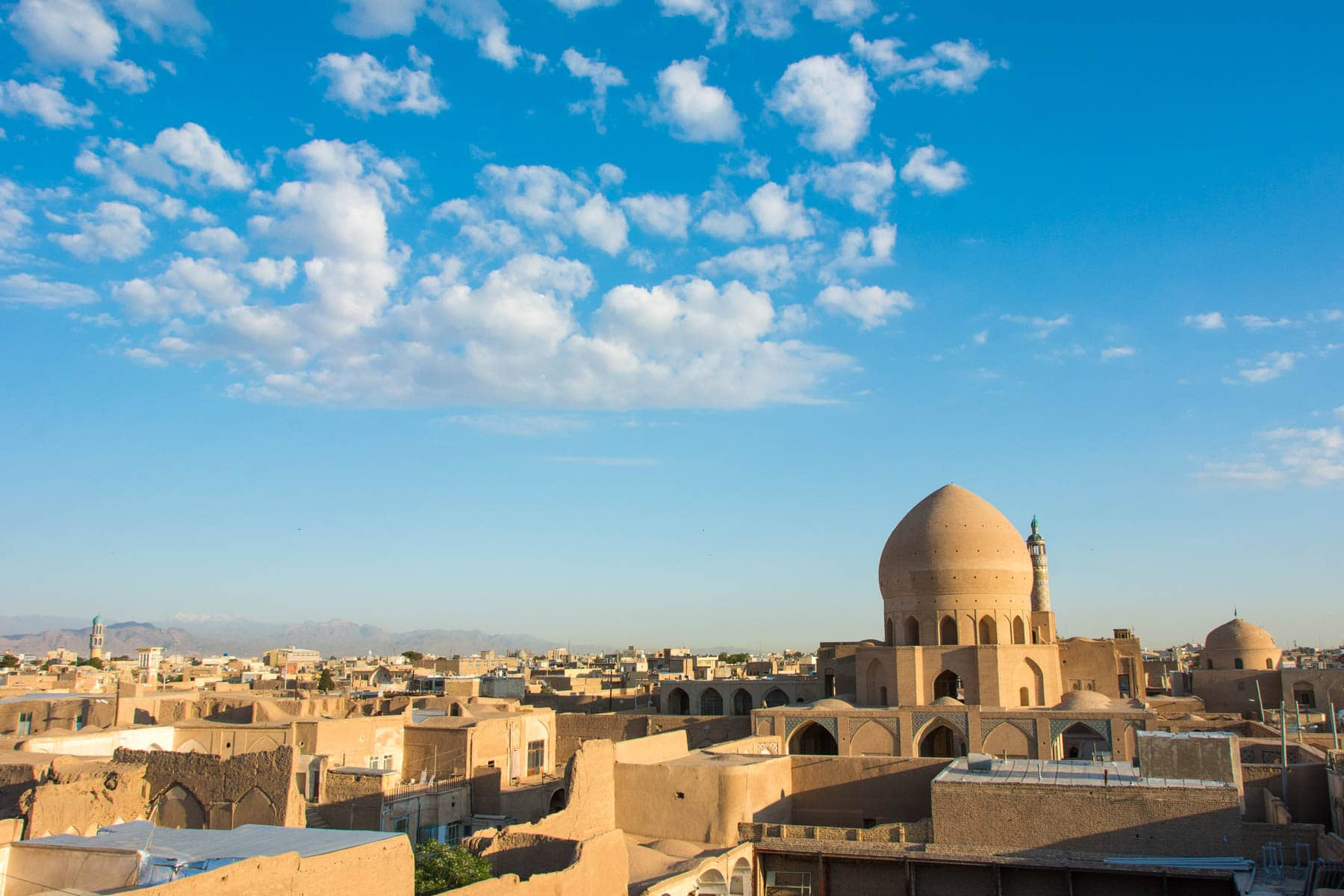 A two week Iran travel itinerary - The view from the roof of the Noghli Guesthouse in Kashan, Iran - Lost With Purpose