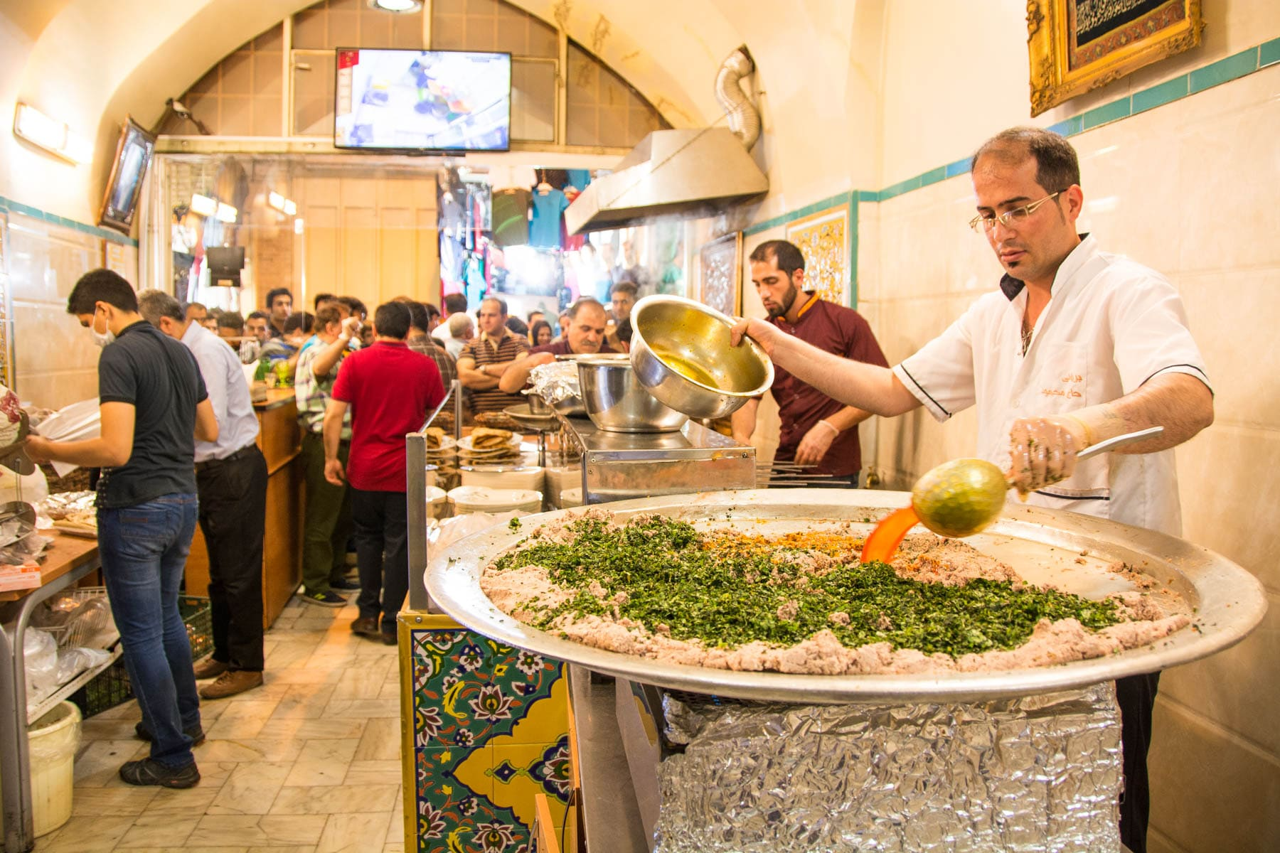Two week Iran travel itinerary - Beryani near Jame Mosque in Esfahan, Iran - Lost With Purpose