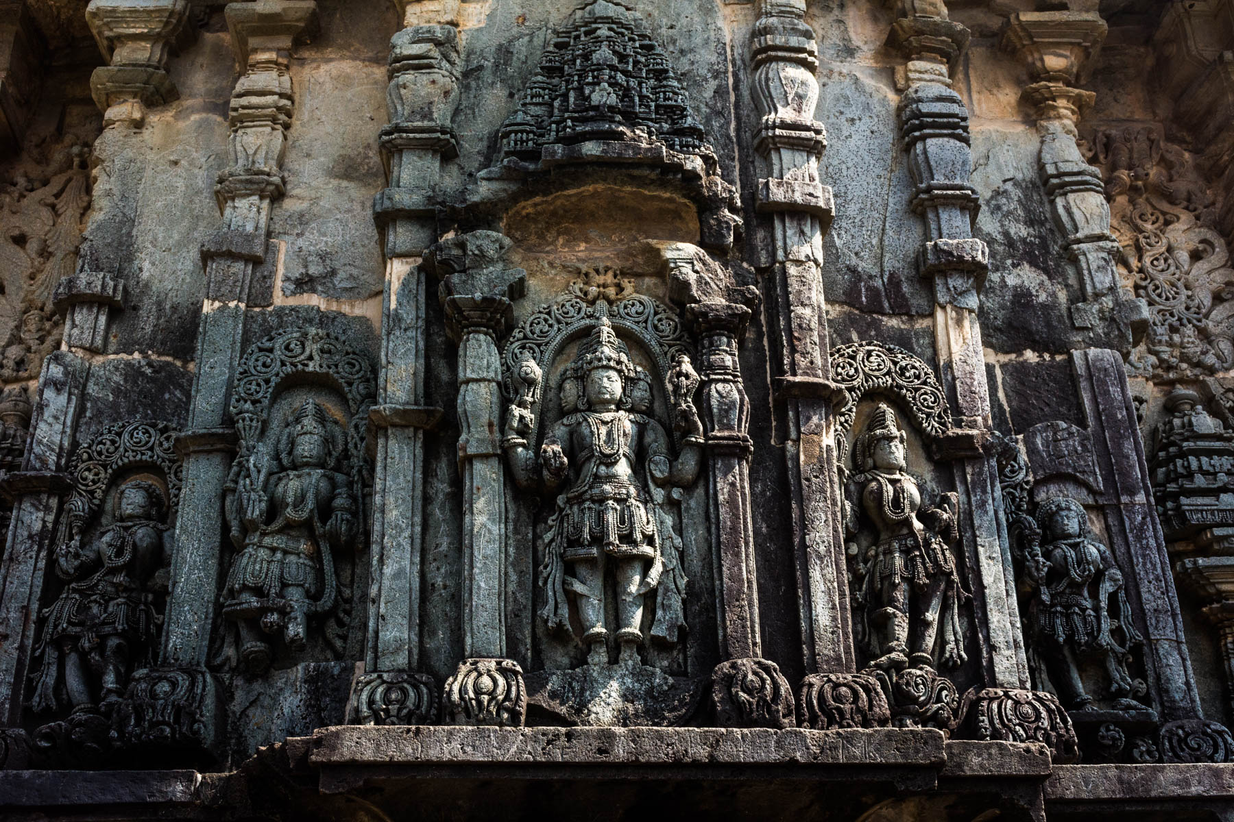 Off the beaten track places to visit in Karnataka, India - Detailed stone carvings on the Chennakesava temple - Lost With Purpose