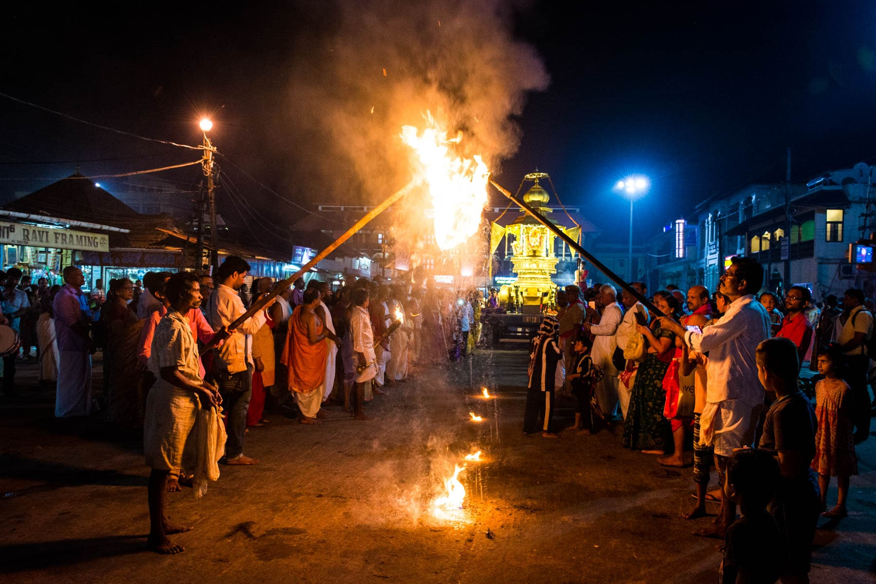 Off the beaten track places to visit in Karnataka, India - A procession outside the Krishna Mutt temple in Udupi - Lost With Purpose
