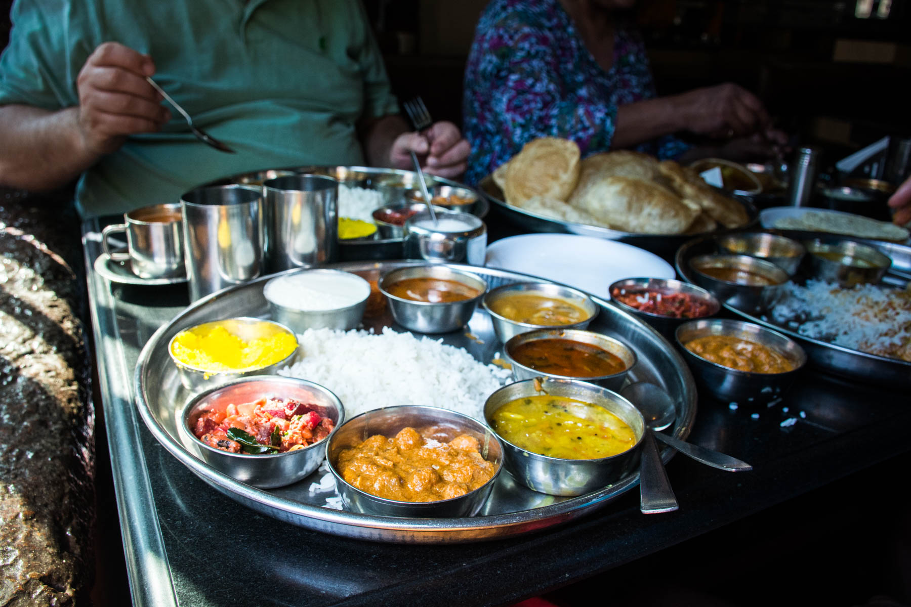 A thali at Plantain Leaf Hotel in Calangute