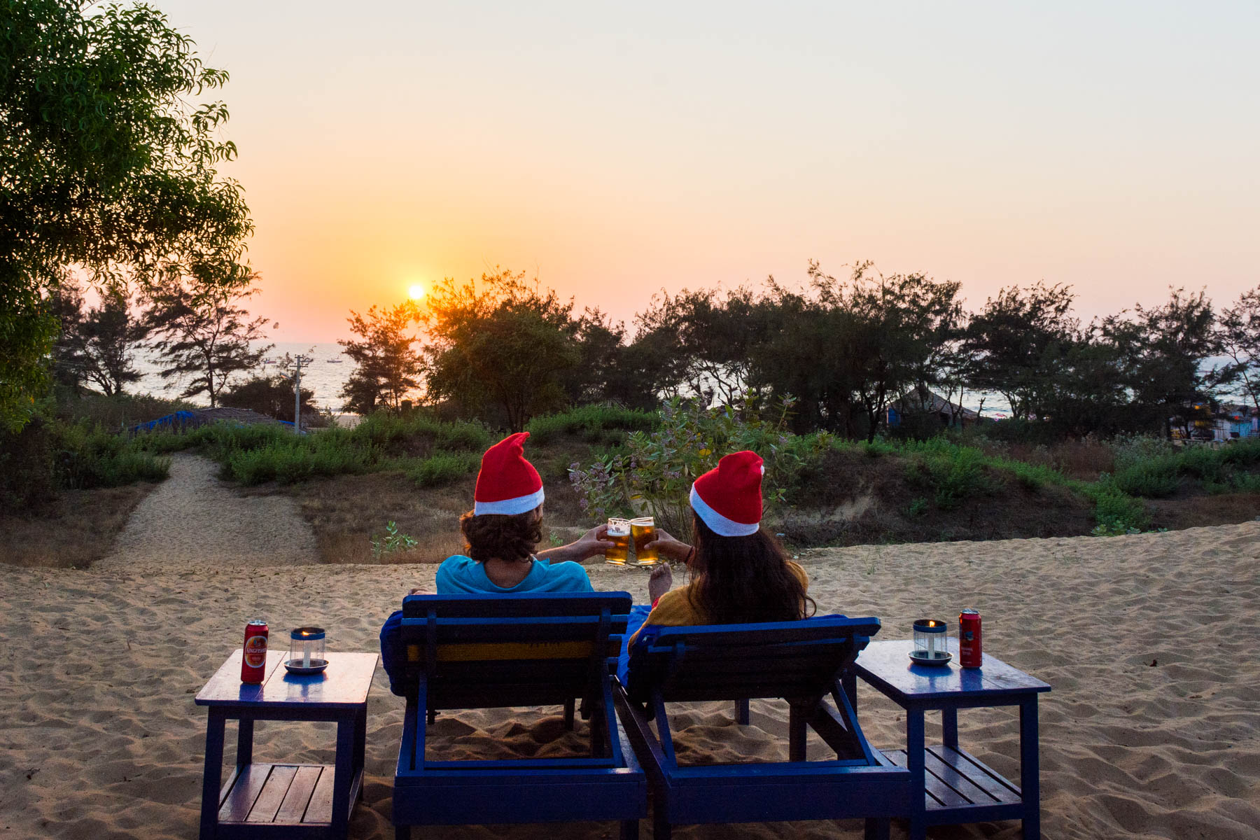Guide to Christmas in Baga and Calangute in Goa, India - Cheers on Christmas Eve - Lost With Purpose