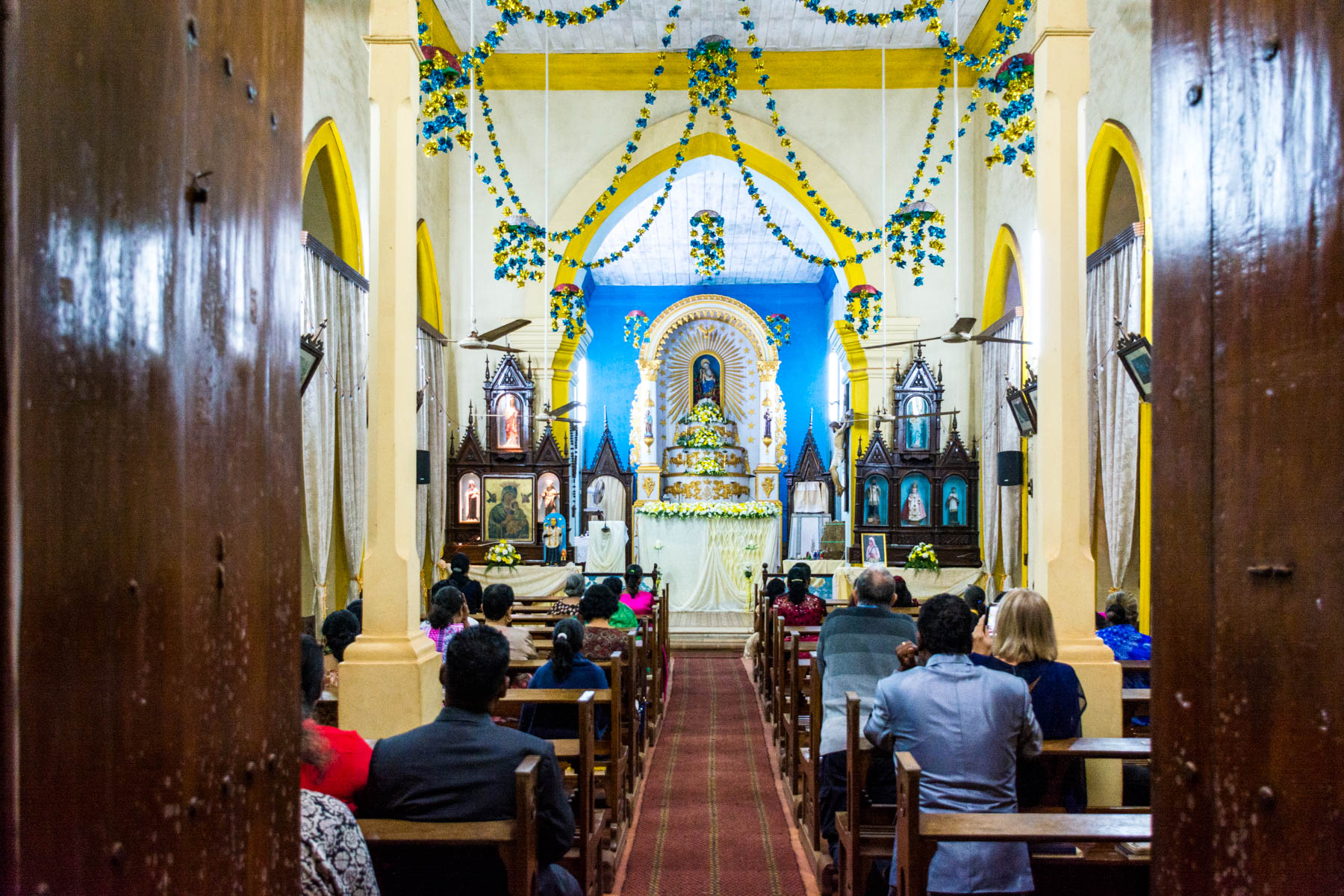 Guide to Christmas in Baga and Calangute in Goa, India - Christmas Eve at the Our Lady of Piety church in Calangute - Lost With Purpose