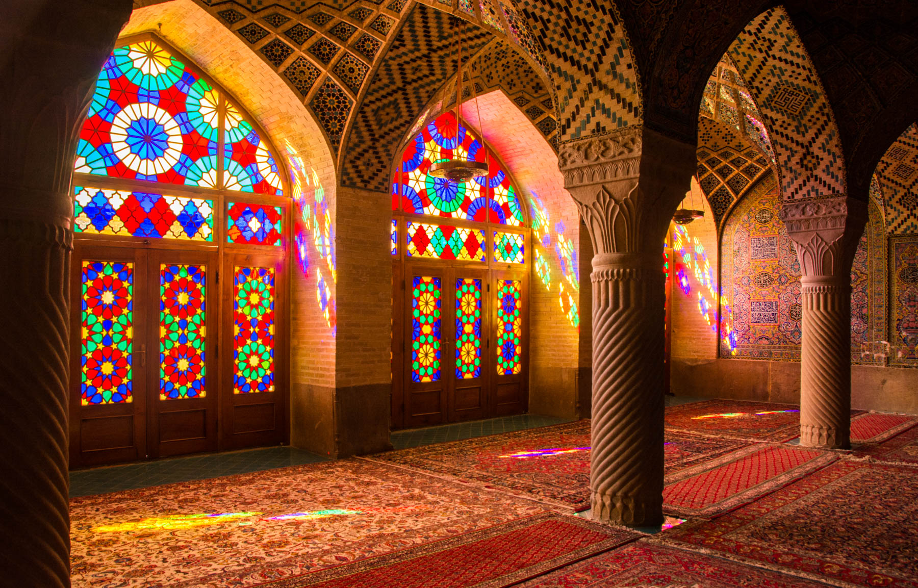 Two week Iran travel itinerary - Nasir al Mulk mosque in Shiraz - Lost With Purpose