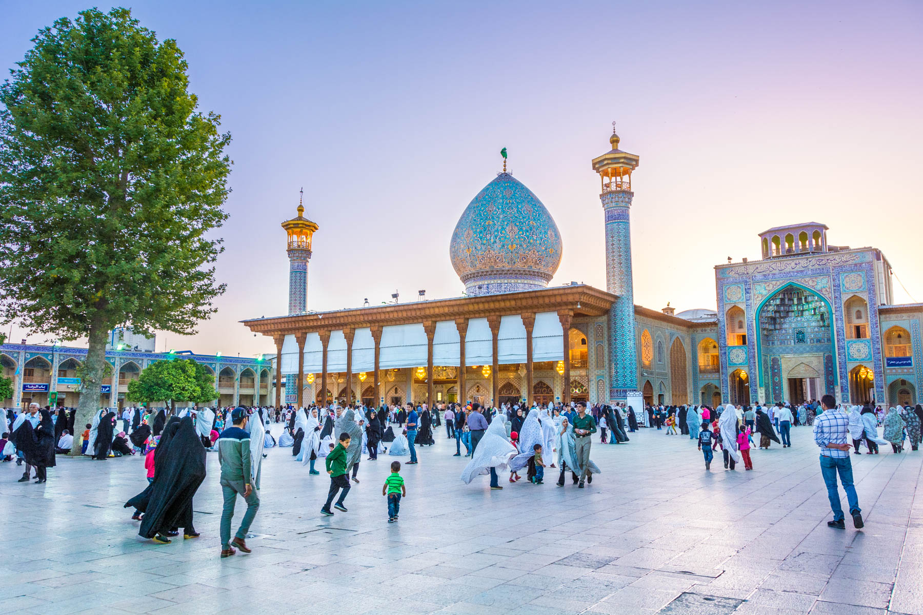 Two week Iran travel itinerary - The Shah Cheragh shrine - Lost With Purpose