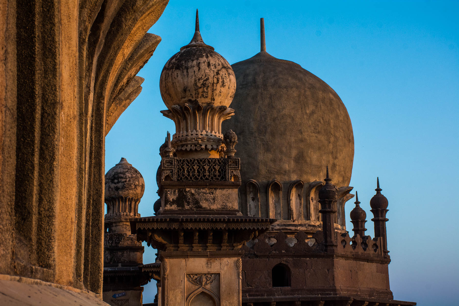 Off the beaten track places to visit in Karnatka, India - the domes of Gol Gumbaz at sunrise in Bijapur, India - Lost With Purpose