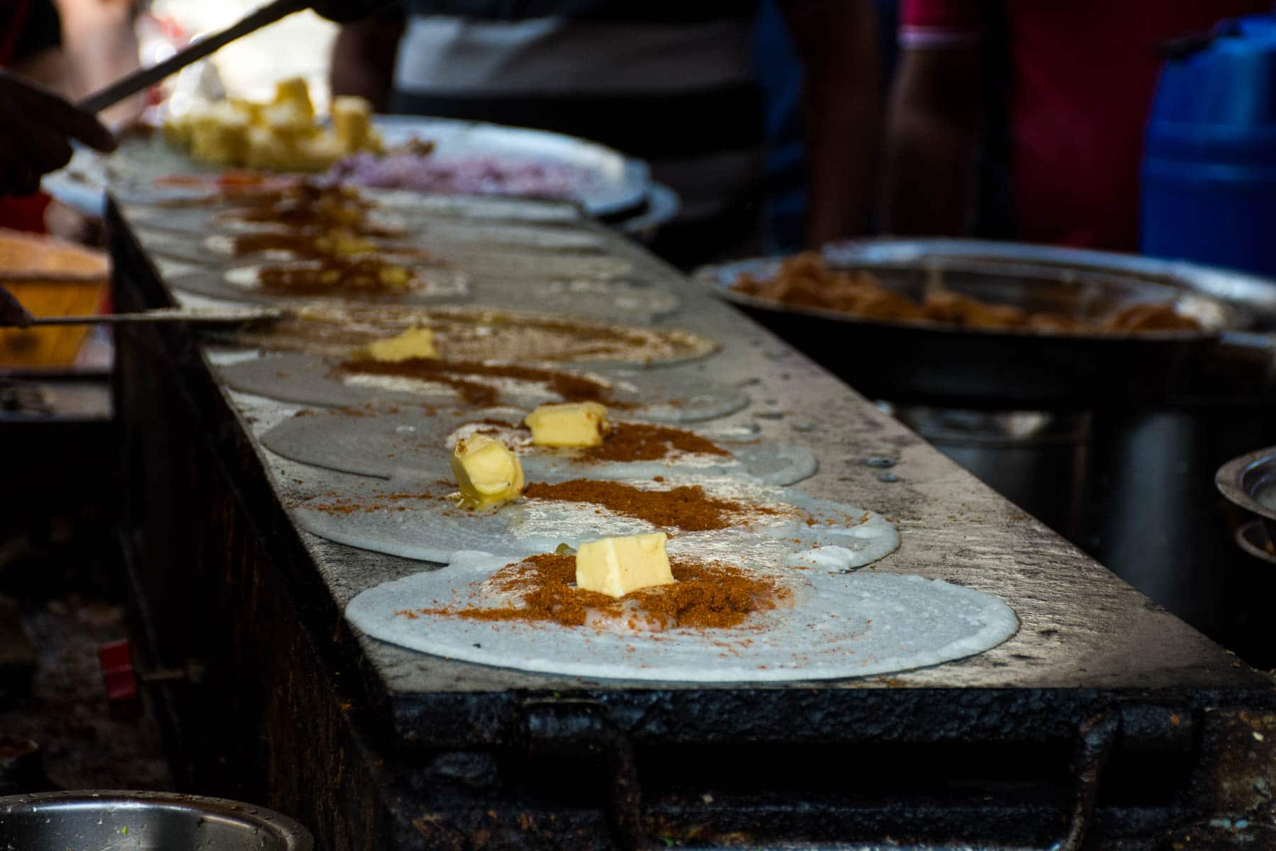 Where and what to eat in Hyderabad's Old City - Dosas on the griddle at Govind Ki Bandi - Lost With Purpose