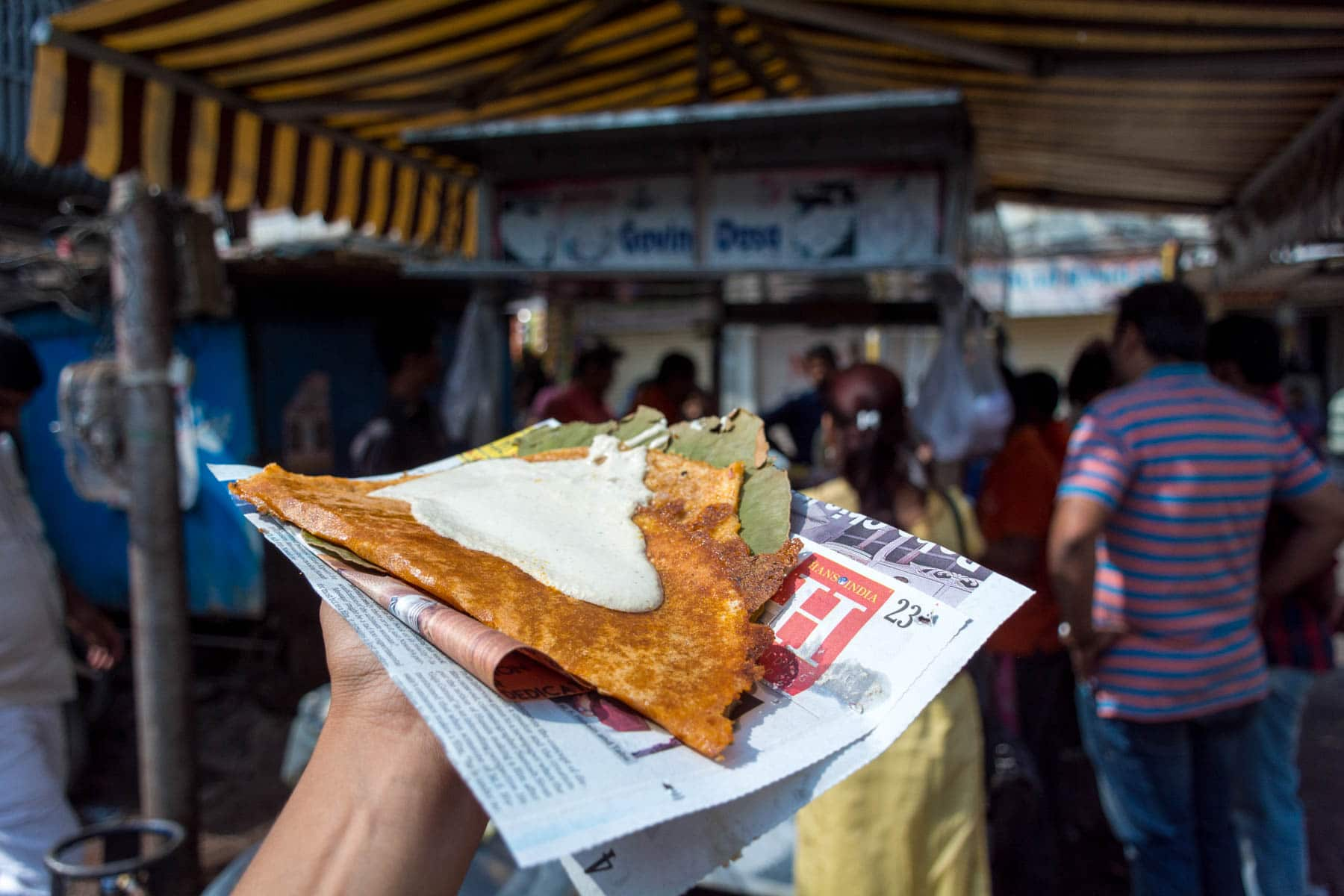 Where and what to eat in Hyderabad's Old City - A dosa from Govind's dosa - Lost With Purpose