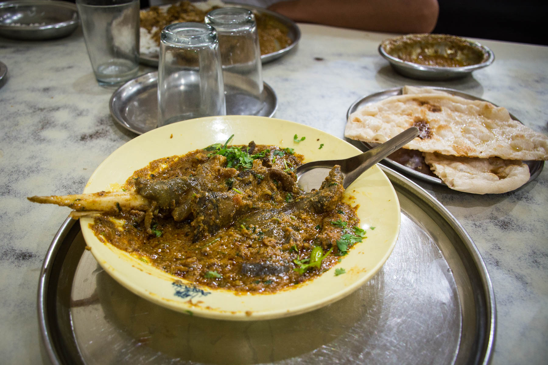 Where and what to eat in Hyderabad's Old City - Paya goat hoof in Hyderabad - Lost With Purpose