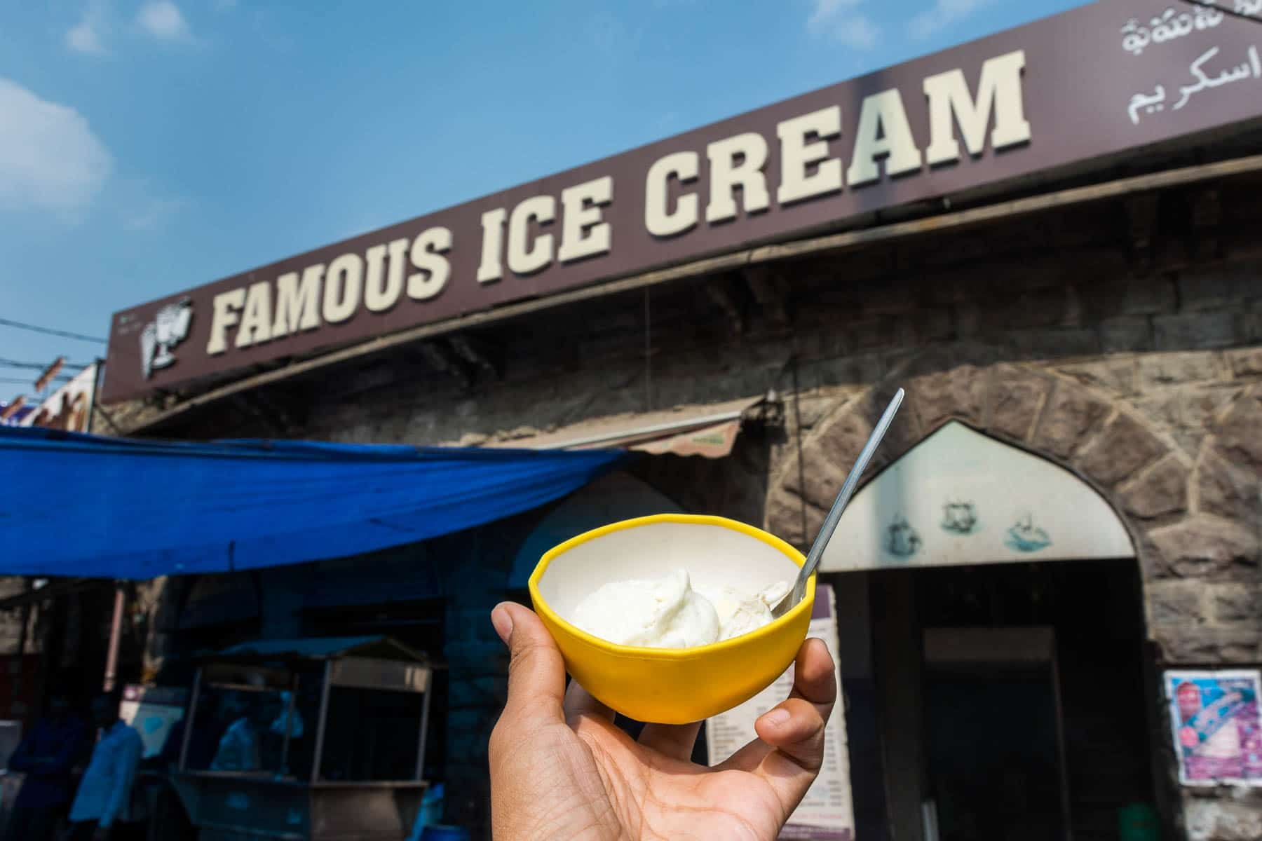 Where and what to eat in Hyderabad's Old City - Famous ice cream - Lost With Purpose