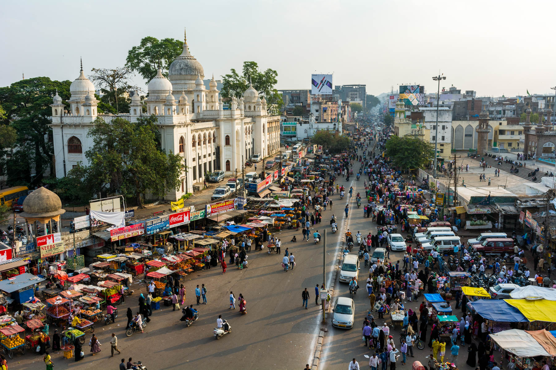Where and what to eat in Hyderabad's Old City - Hyderabad from above in Charminar - Lost With Purpose