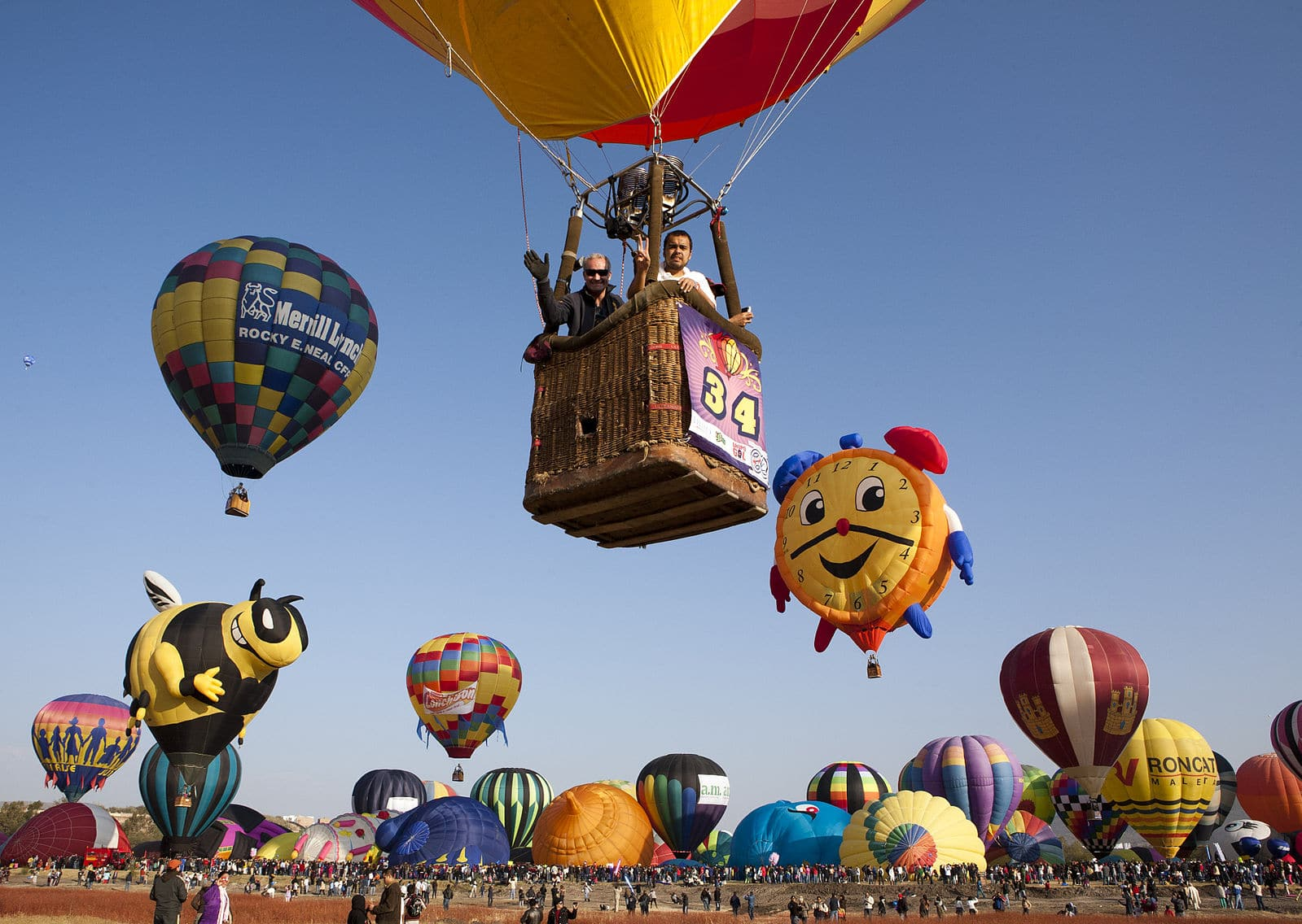 Most adventurous forms of transportation while traveling - Hot air balloon ride