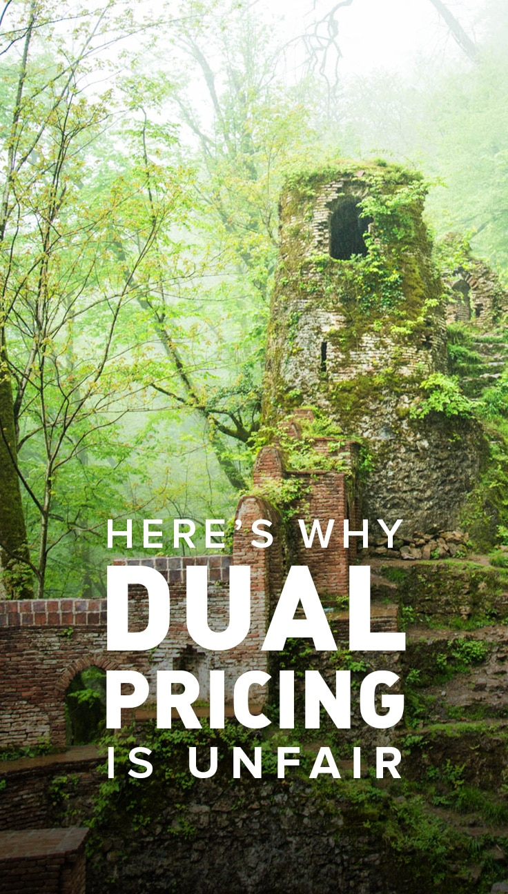 Dual pricing on entry tickets is a common tourism practice throughout Asia... and it's absolute nonsense. Click to learn why dual pricing is unfair, and what could be done instead.