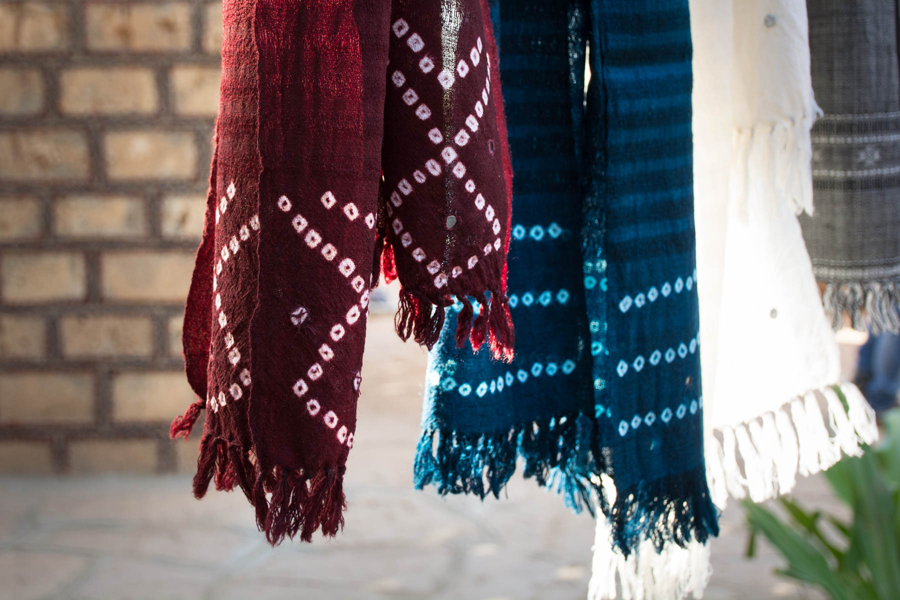Textiles and crafts of Kutch, Gujarat, India - Bandhani fabric for sale in Bhujodi, Gujarat, India - Lost With Purpose