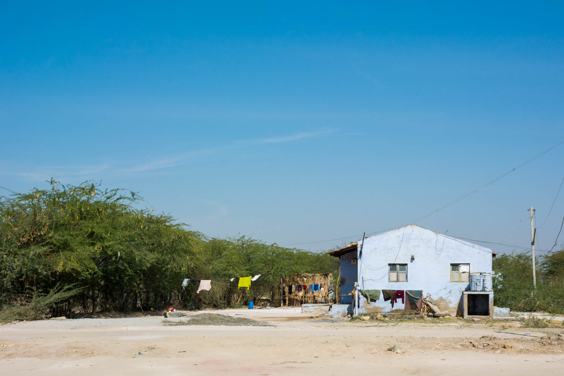 Textiles and crafts of Kutch, Gujarat, India - A lone village house near Bhuj - Lost With Purpose