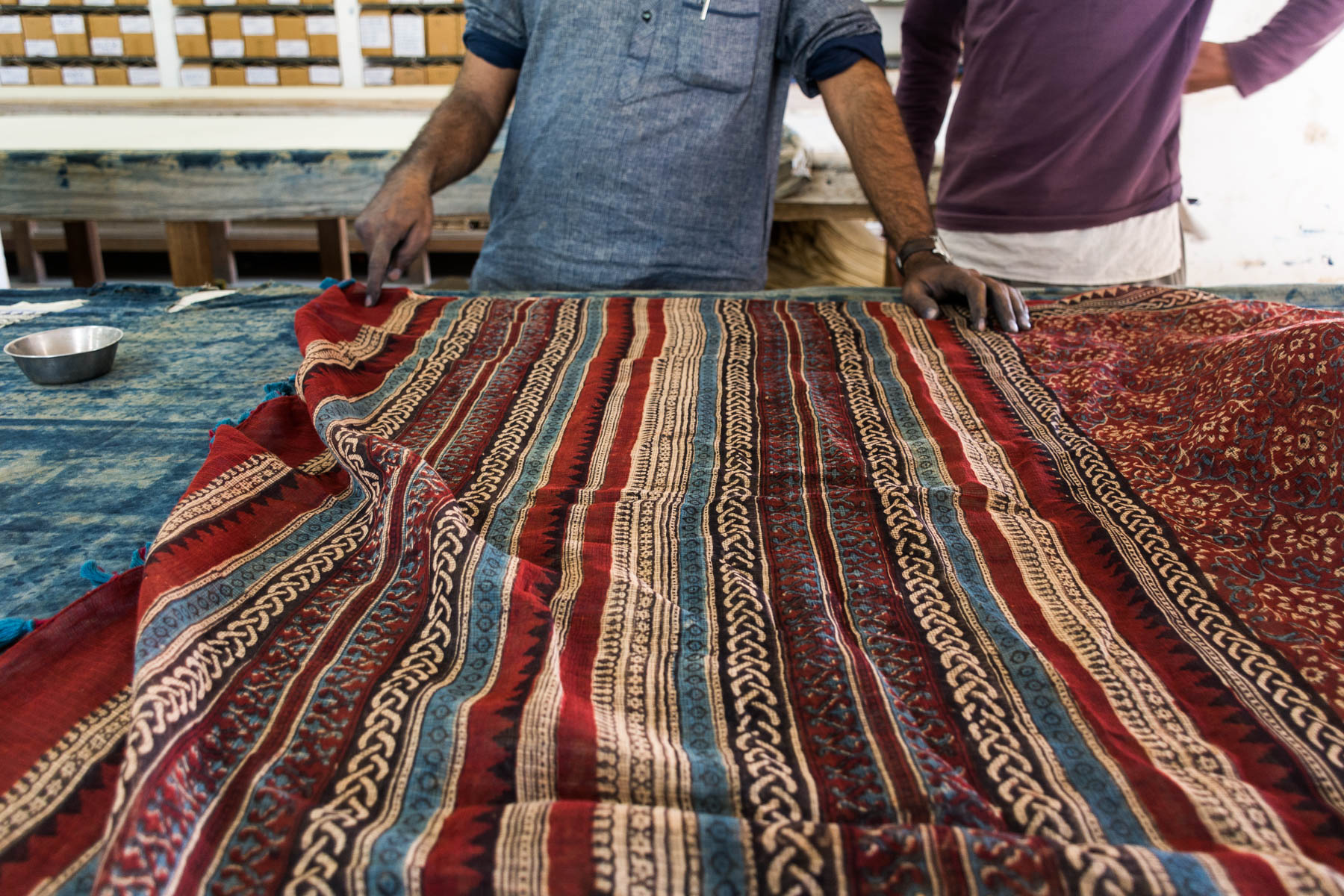 Textiles and crafts of Kutch, Gujarat, India - Traditional Ajrakh block printing designs - Lost With Purpose