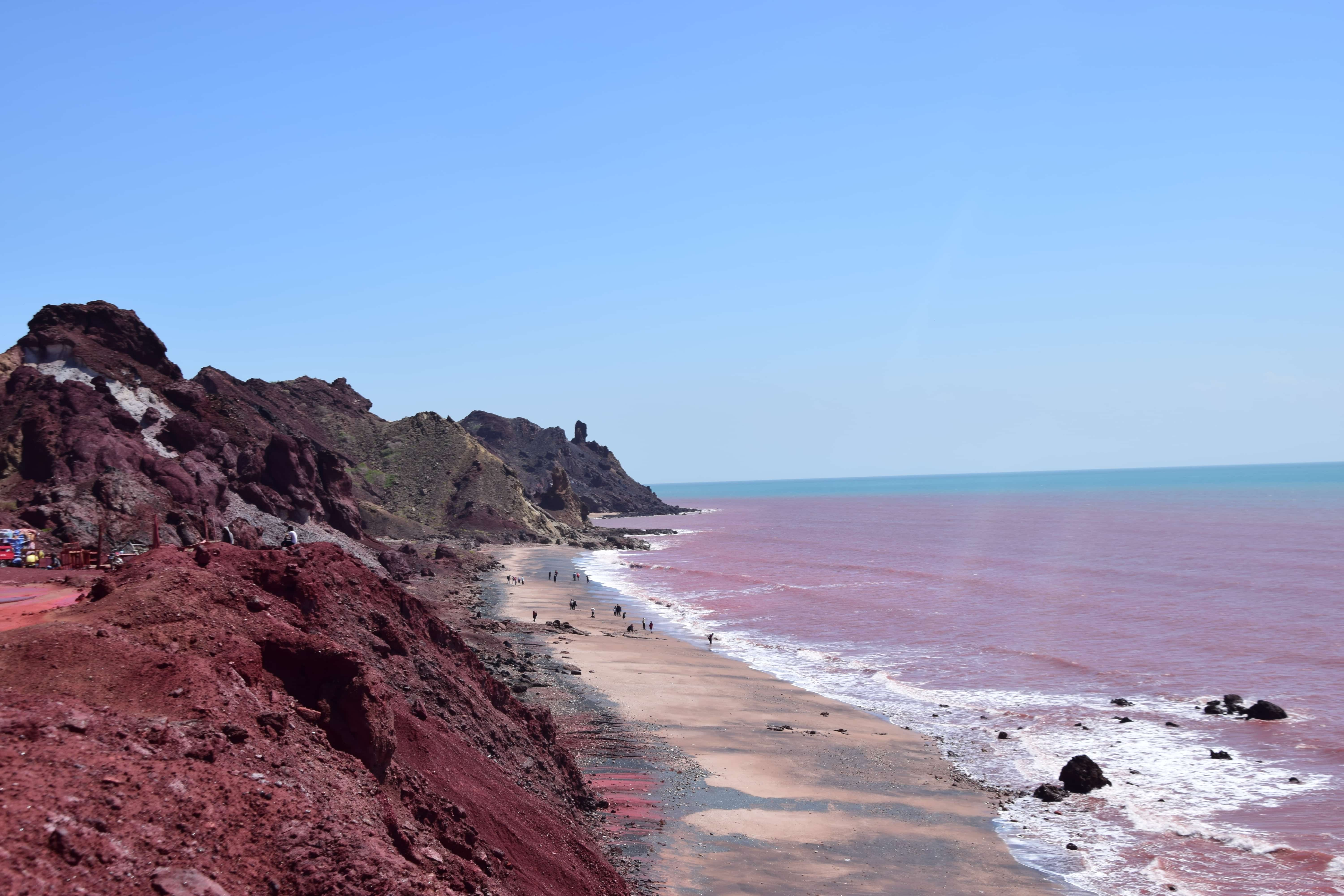 Red water on the red beach in Hormuz, Iran - Lost with Purpose travel blog