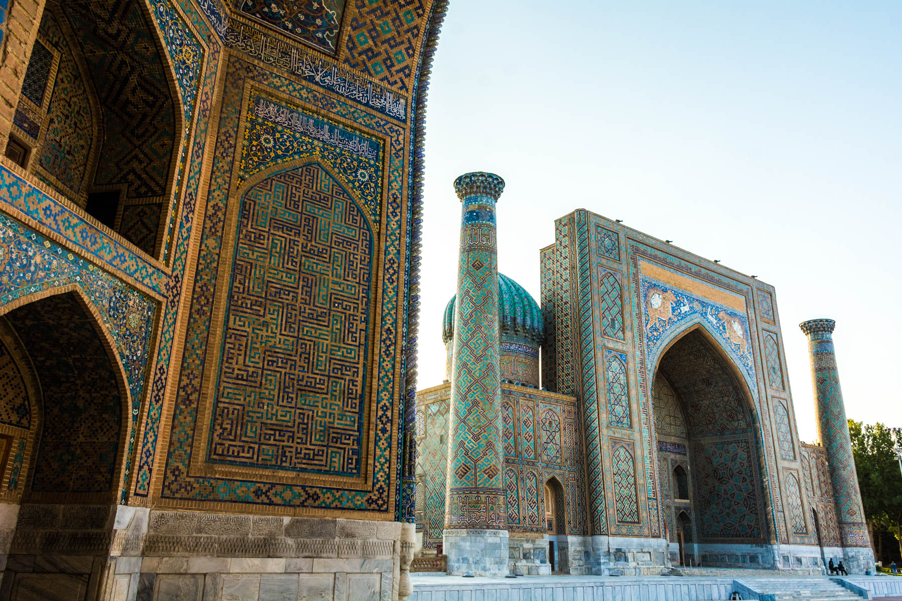 Two week Uzbekistan itinerary - The Registan in Samarkand, Uzbekistan at sunrise - Lost With Purpose